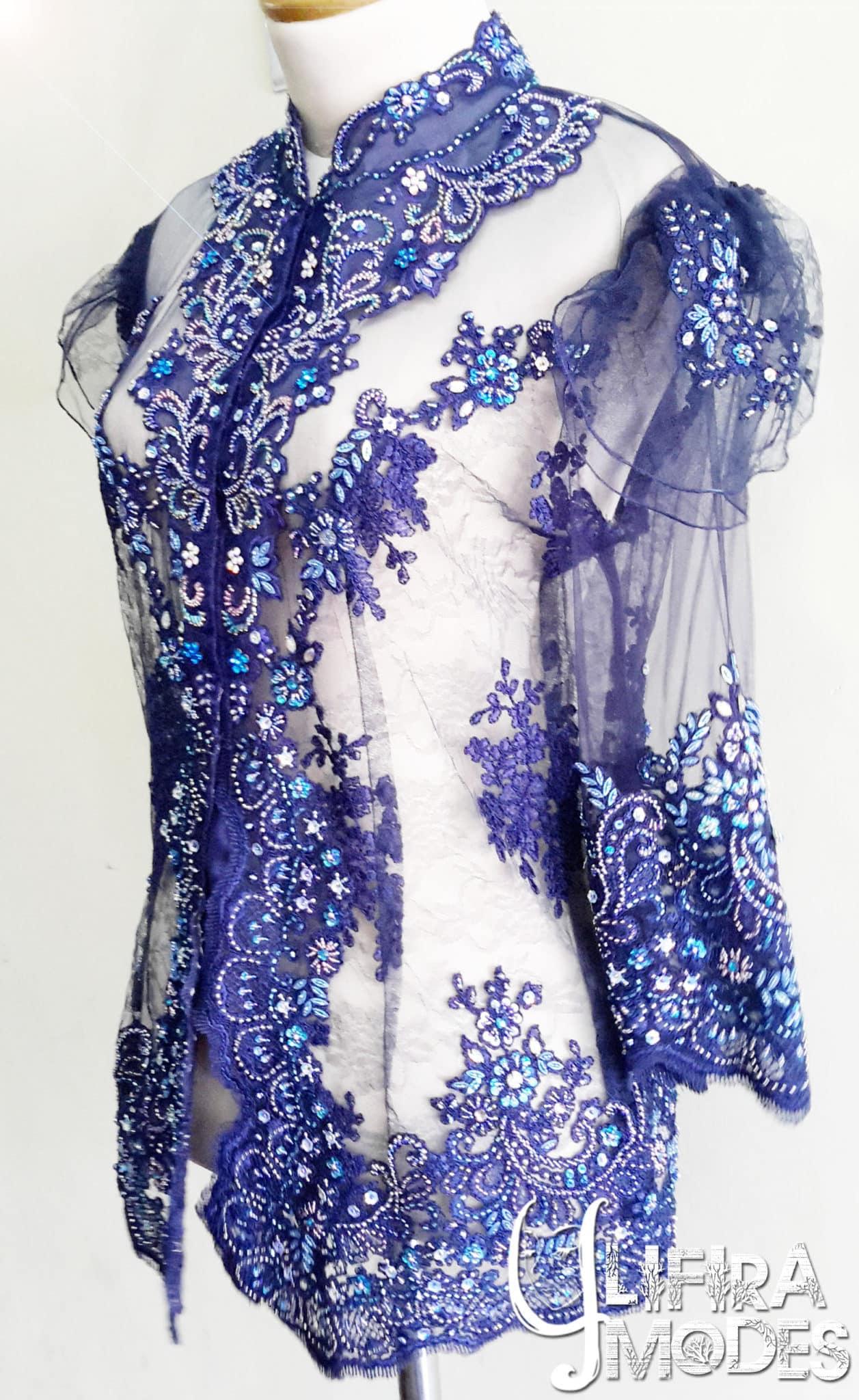 Glamourous Royal Blue Kebaya by LIFIRA Modes, Penjahit Wanita Malang
