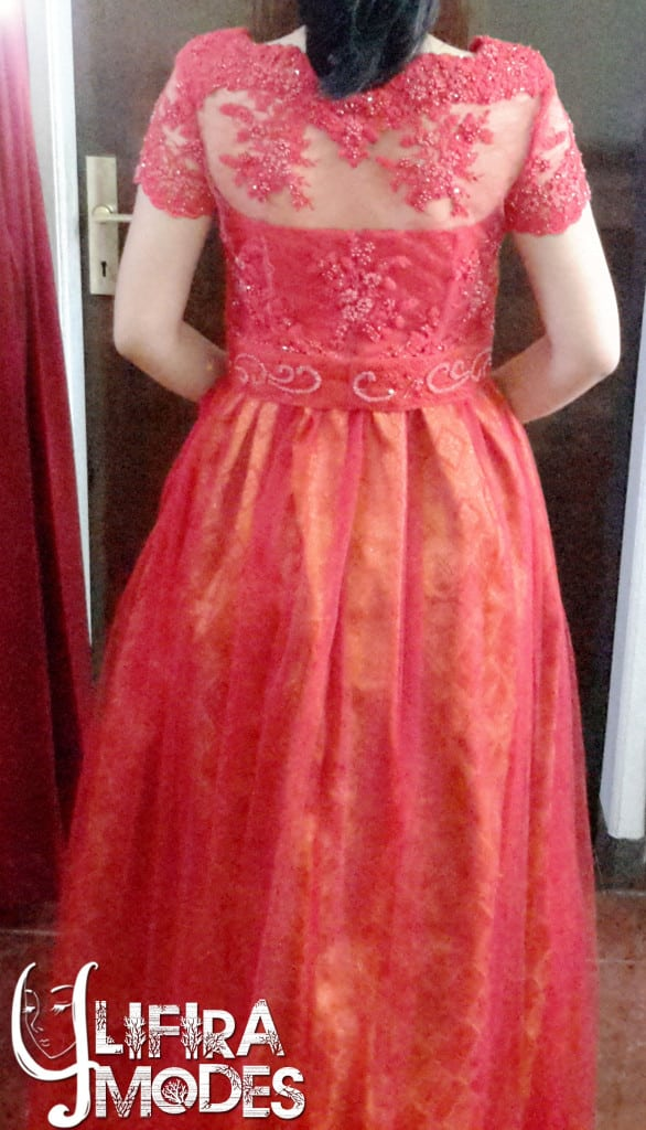 Bravery Red Wedding Gown by LIFIRA Modes (2), Penjahit Wanita Malang