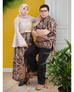 Penjahit Dress Couple Brokat Batik Sarimbit Lifira Malang